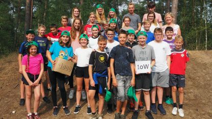 Leerlingen eerste jaar SILA Westerlo op kamp