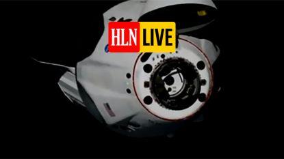 HLN LIVE. De astronauten zijn aangekomen: volg hier hoe de Crew Dragon zich vasthecht aan ruimtestation ISS