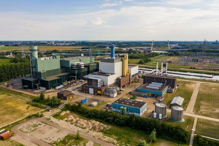 De elektriciteitscentrale van Vattenfall in Diemen. Deze centrale draait op gas, Vattenfall wil hier een centrale bouwen voor het verbranden van biomassa. Beeld Hollandse Hoogte