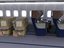 Ontwerpbureau Haeco ontwierp een vliegtuig waarin passagiers de vliegtuigcabine delen met de vracht waardoor er meer afstand is tussen de reizigers.