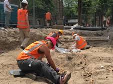 Tientallen skeletten opgegraven naast Grote Kerk