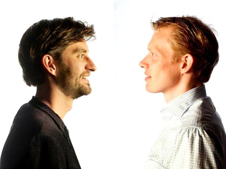 Daan van Eijk (l) en Jan Beuving). Beeld