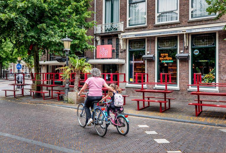 The Streetfood Club in Utrecht die moest sluiten vanwege coronabesmettingen bij het personeel.  Beeld Raymond Rutting / de Volkskrant