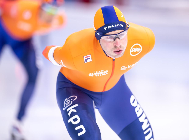 Sven Kramer werd dertiende op zijn favoriete afstand, de 5000 meter. Beeld BSR Agency