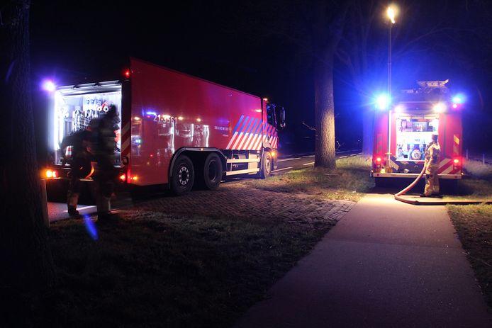 De brandweer werd opgeroepen voor een melding in Schijndel.