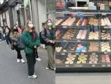 Een donut eten bij het nieuwe filiaal Dunkin' Donuts in Gent? Dat is dan even aanschuiven