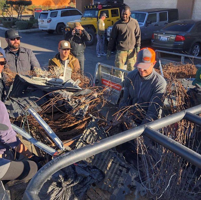 Vrijwilligers ruimden de afgelopen dagen de rommel op in verschillende nationale parken.