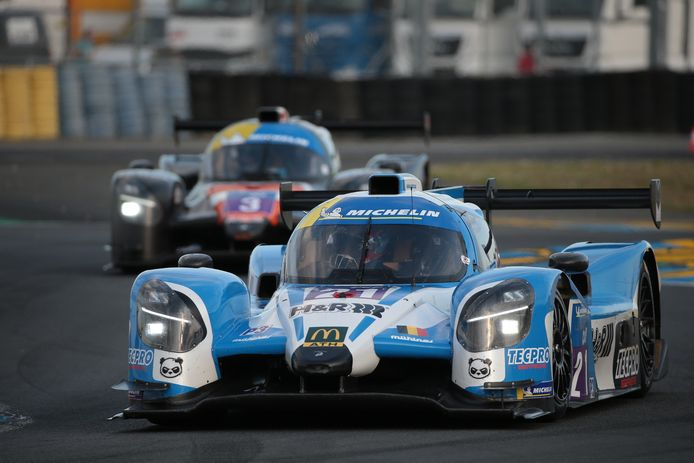 Ugo De Wilde in zijn bolide in Le Mans, waarmee hij dit weekend ook in Francorchamps racet.