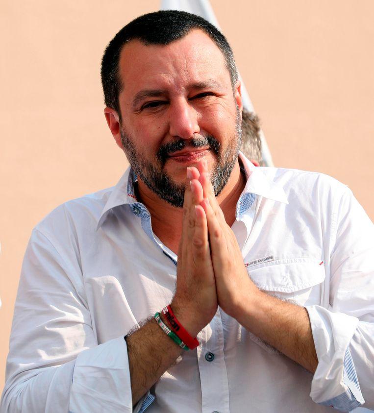 Italiaans minister van Binnenlandse Zaken Matteo Salvini. Beeld AP