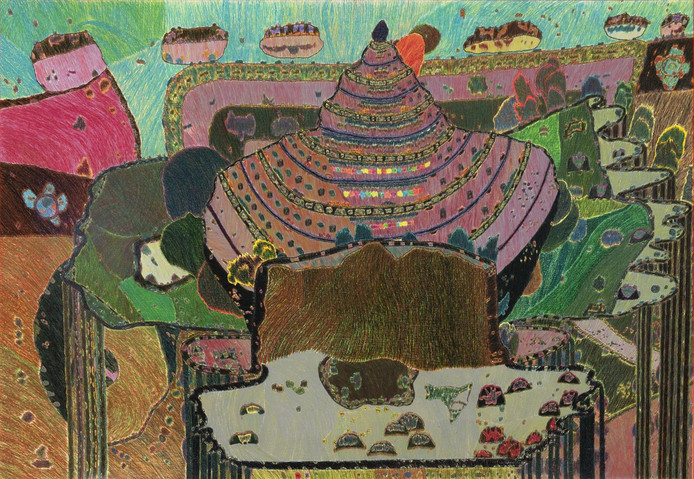 Zonder titel, werk van Karhang Mui