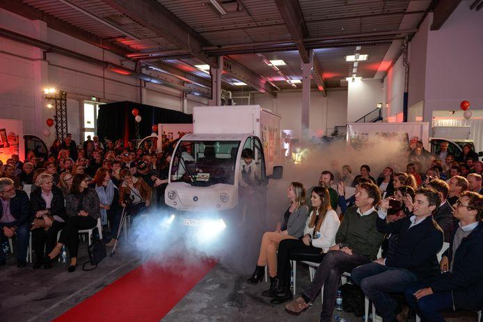 Een rode loper en blije gezichten: de presentatie van Picnic in Duitsland kan niet stuk.