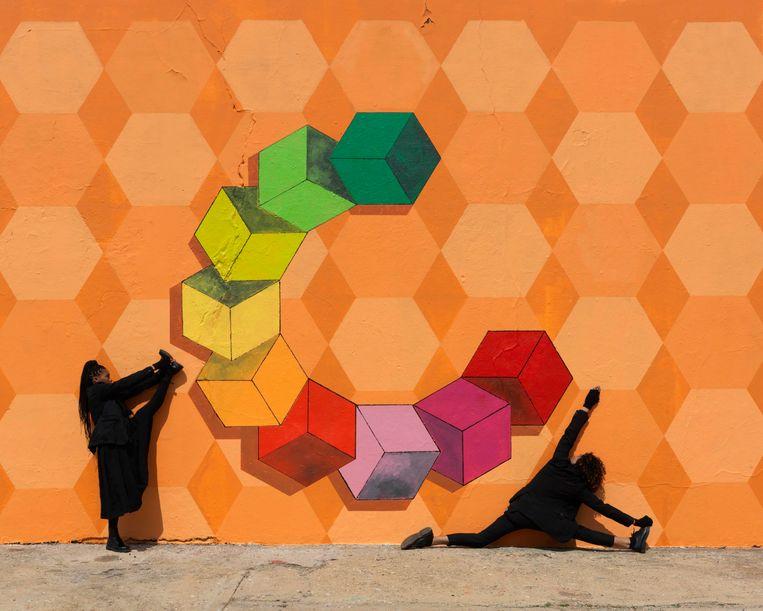 Nigerian Sands, uit een serie van 12. Beeld Robin Rhode/Kamel Mennour