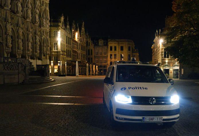 De studenten uit Roeselare werden gesnapt in de buurt van de Grote Markt in Leuven.