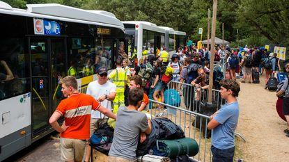 Terugtocht met festivalbus