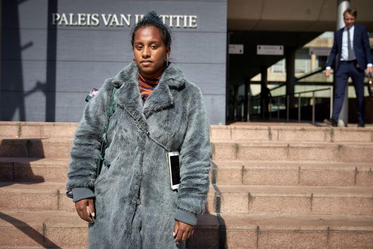 Dilani Butink voor de rechtbank.  Beeld Hollandse Hoogte /  ANP