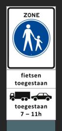Met dit bord wil de gemeente Enschede scooters weren uit de binnenstad