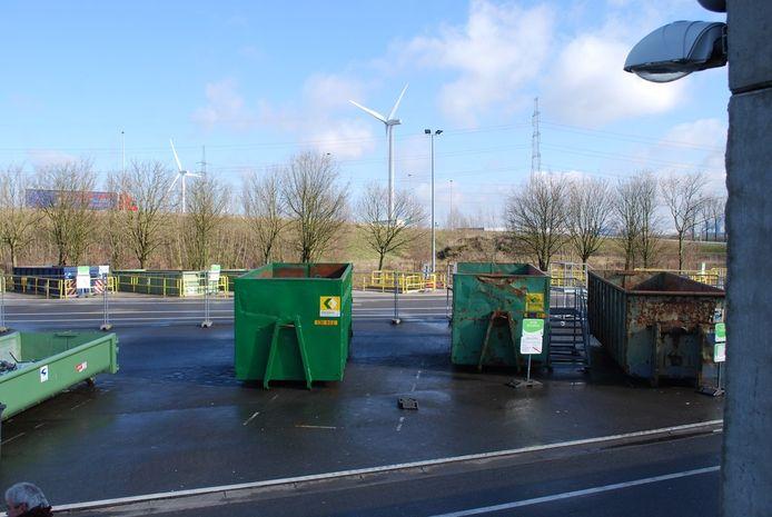 Het recyclagepark van Evergem.