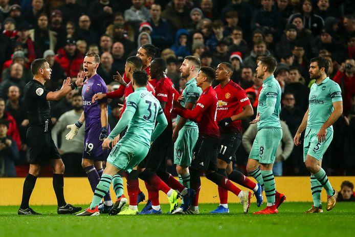 Arsenal en Manchester United troffen elkaar vorige maand nog in de competitie.