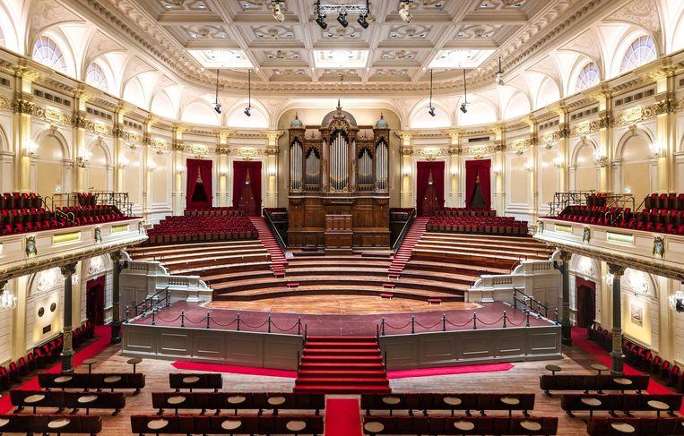 De grote zaal van het Concertgebouw is stil en leeg. Beeld ANP