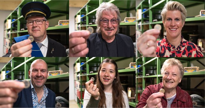 Inwoners van de Liemers wordt gevraagd om één euro te doneren voor de nieuwe presentatie van de oorlogscollectie in het Liemers Museum. Bovenaan in het midden zanger Joop Boxstart die het lied De Vri-jheid schreef.