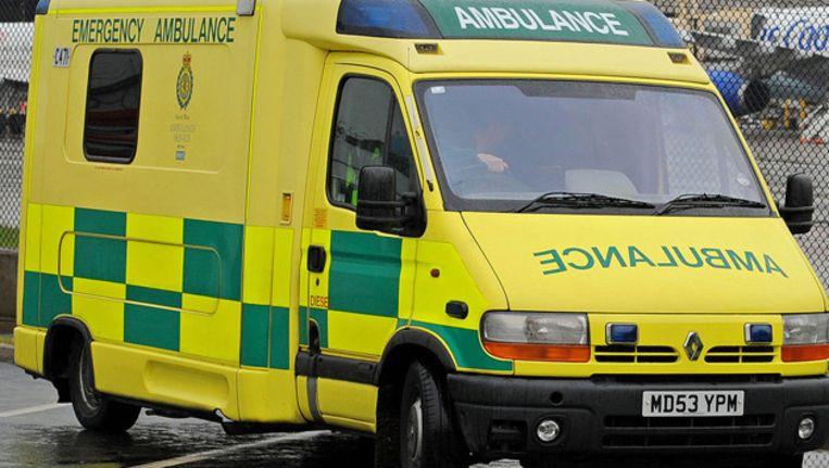 Archiefbeeld van een ambulance in Engeland. Beeld afp