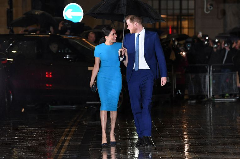 Harry en Meghan op de Endeavour Fund Awards in Mansion House in Londen. Beeld AFP