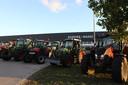 Boerenprotest in Veghel bij Kuehne+Nagel