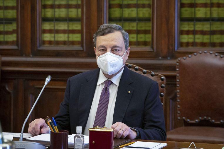 Mario Draghi. Beeld Photo News