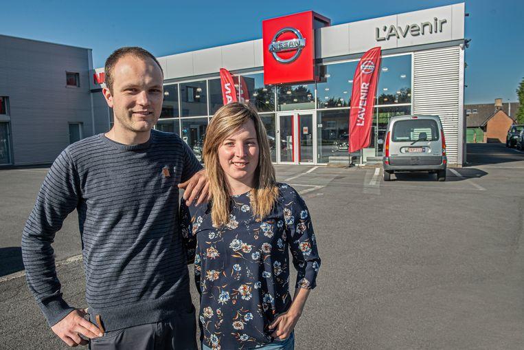 Anthony Verhaeghe en Laura Willaert zijn de gezichten van L'Avenir in Roeselare.