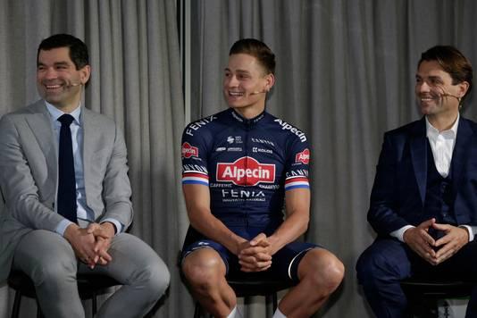 Coach en ploegmanager Christoph Roodhooft (rechts) met Mathieu van der Poel.