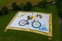 Deze Tour maakte het team van Tour de Tietema het grootste spandoek tijdens de Tour ooit voor Wout van Aert.