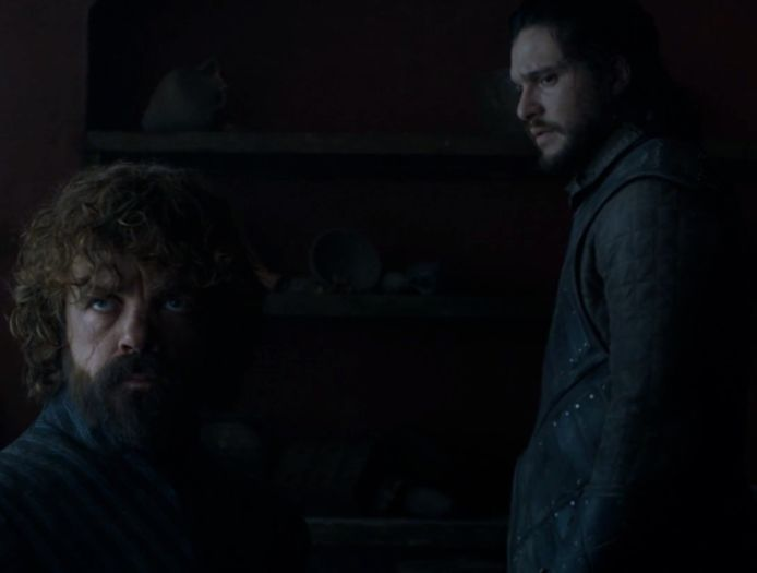 Tyrion waarschuwt Jon voor Dany.
