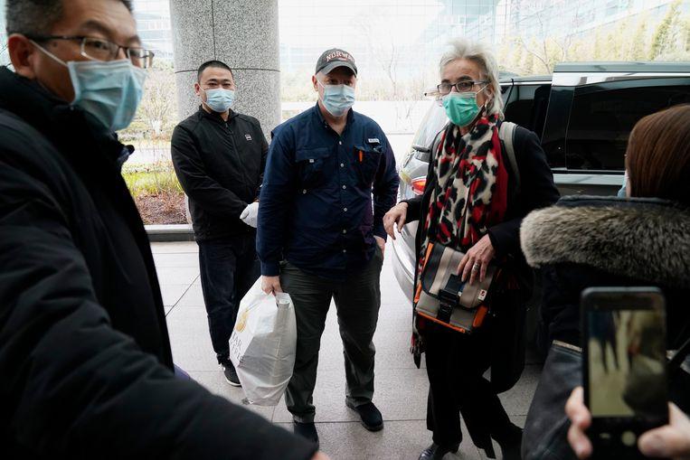 De Nederlandse viroloog Marion Koopmans maakte ook deel uit van het onderzoeksteam van de WHO. Beeld AP