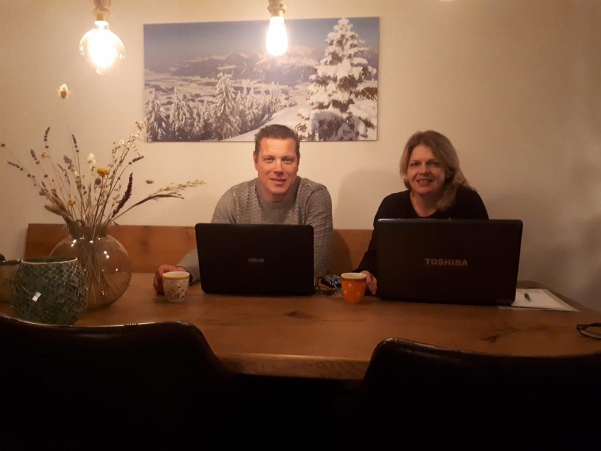 Hermien Kevelam en partner Stefan Koopman zijn niet ziek maar zitten toch in quarantaine