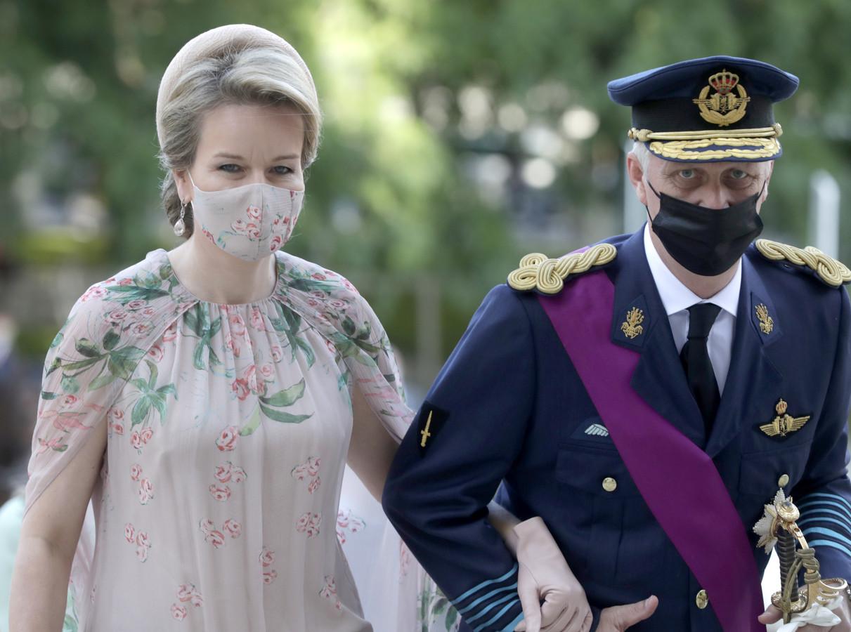 Philippe et Mathilde lors des festivités du 21 juillet.