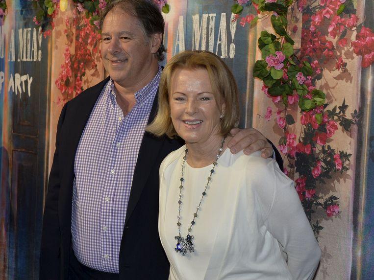 Anni-Frid Lyngstad en haar partner Harry Smith. Beeld TT NEWS AGENCY