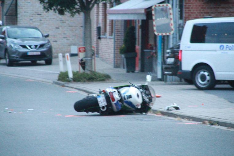 De motorfiets van het slachtoffer.