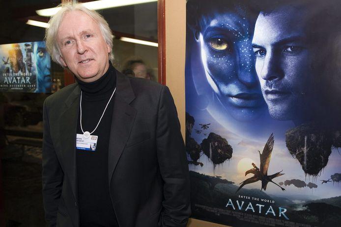 Regisseur James Cameron bij de release van 'Avatar'