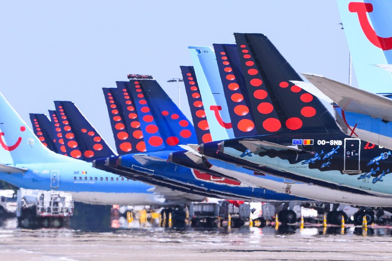 De vliegtuigen van Brussels Airlines blijven aan de grond door het coronavirus. Maar echt gemakkelijk heeft 'onze' luchtvaartmaatschappij het nooit gehad. Beeld Photo News