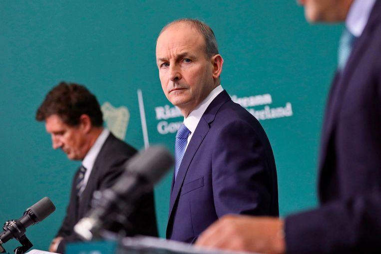 De Ierse regering kondigt een lockdown af. Beeld AFP