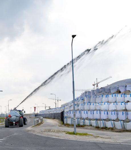 Zandstormen op Terneuzense sluizencomplex verleden  tijd, dankzij dun laagje papierpulp
