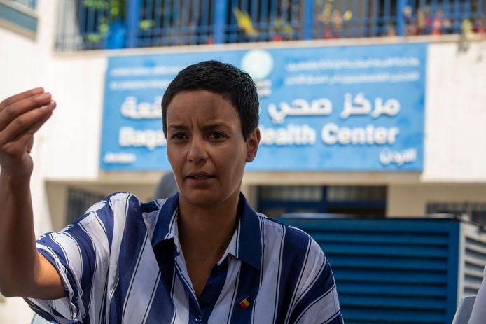 Meryame Kitir in het vluchtelingenkamp.