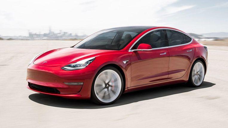 Tesla model 3 is op dit moment nog de instapper. Beeld RV