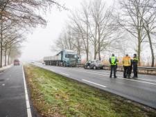 Trucker afgeleid tijdens ongeval in Lierop