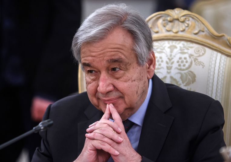 Antonio Guterres tad aan in 2017. Beeld EPA