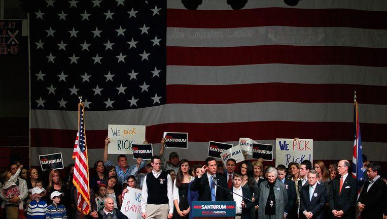 De Amerikaanse presidentskandidaat Rick Santorum. Beeld AFP