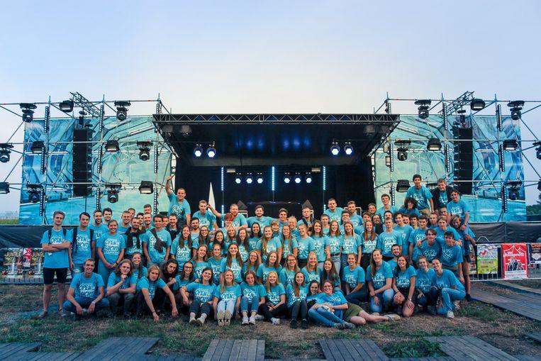 ONZE-LIEVE-VROUW-WAVER - Scouting Waver voor het podium van Café Ouvert. Een evenement georganiseerd door Scouting Waver op de vooravond van hun Openlucht TD