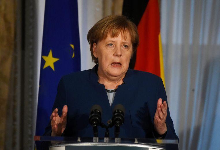 Duits Bondskanselier Angela Merkel. Beeld REUTERS