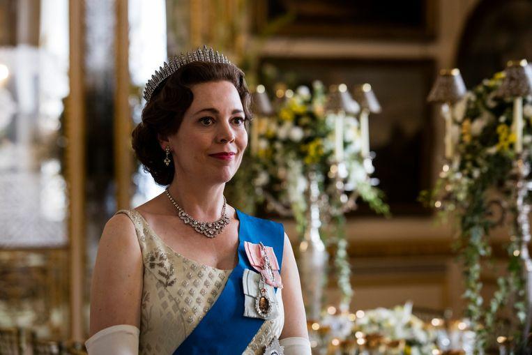 Olivia Colman als Queen Elizabeth II. Beeld AP