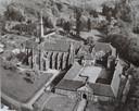 Luchtfoto van de abdij van Val Dieu nabij Aubel, België.